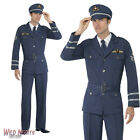 "FANCY DRESS COSTUME # MENS 1940s WW2 RAF PILOT AIR FORCE CAPTAIN SIZE 38""-44"""