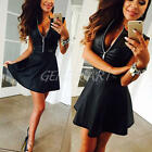 2016 Summer Sexy Women Black PU Leather Bodycon Cocktail Party Evening Dress