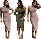 New Women's Sexy Summer Casual Bodycon Evening Party Club Dress Plus Size