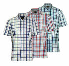 Mens Champion Country Style Casual Check Short Sleeved Polycotton Shirt