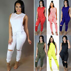 Fashion Women sexy sleeveless mid short jumpsuit playsuit romper casual wear