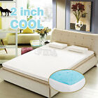 """2"""" inch Cool Gel Memory Foam Mattress topper pad twin full queen king with cover"""
