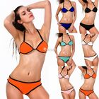 Sexy Women Swimwear Bandage Push-up Bikini Set Padded Bra Triangle Swimsuit S-XL