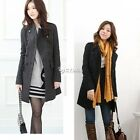 Sexy Women Slim Wool Long Trench Parka Double-Breasted Winter Coat Jacket DZ88