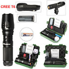 5000lm CREE T6 LED Tactical Flashlight Rechargeable Bike Light Battery Mount Kit