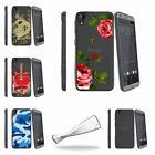 For HTC Desire 530 | Desire 630 Slim Fitted Flexible Clear TPU Case Red Roses