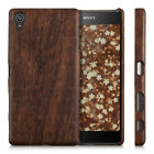 kwmobile WOOD COVER FOR SONY XPERIA Z5 PREMIUM ROSEWOOD CASE BACK HARD NATURAL