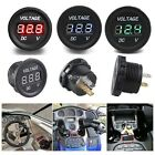 12V-24V Motorcycle LED DC Digital Display Voltmeter Socket Waterproof Meter