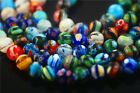 New 6mm/8mm/10mm Round Colorful Flower Millefiori Glass Beads Crafts Findings