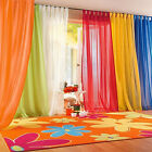 Bedroom Wedding Decor Pure Color Glass Yarn Sheer Window Valance Curtain Sanwood