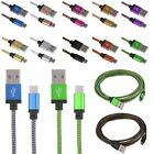 1m 2m 3m Aluminum Braided Micro USB Sync Charger Cable Cord For Android Phone