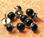 12mm PEARL BRADS - BLACK Scrapbook Wedding Home Decor Mixed Media 10pc