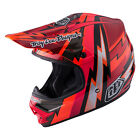 NEW 2017 TROY LEE DESIGNS TLD AIR BEAMS MX OFFROAD HELMET RED ALL SIZES