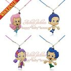Novelty 4PCS Bubble Guppies Cartoon PVC Chain Necklace pendant accessories gifts