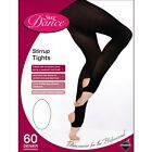 SILKY CHILDRENS DANCE MATTE STIRRUP TIGHTS IN BLACK & TAN - 7-9 9-11 11-13 -