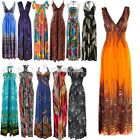 Summer  Women's Lady Colorful Hawaiian Maxi Long Beach Dress Sundress Skirt S0BZ