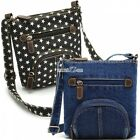 Unisex Women's Denim Shoulder Bag Jean Purse Vintage Crossbody Handbag 2 Colors