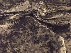 Luxury Velvet MARBLE Velour Fabric Material - MINK