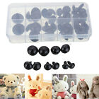 100pcs Black Plastic Safety Eyes For Bear Doll Animal Puppet Crafts 6-10mm
