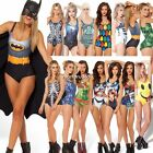 Women One Piece Swimwear Underwear Swimsuit Stylish Pattern Monokini Bikini N4U8