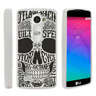 For LG Leon | Tribute 2 | Risio Slim Fitted Flexible TPU Case Sinister Skulls