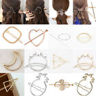 Fashion Women Gold Silver Geometry Triangle Hairpin Hair Clip Hair Accessories A