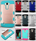 For LG K10 Tuff Trooper HYBRID TPU Hard Protector Case Skin Phone Cover