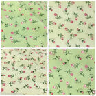 Bella-Rose 100% cotton fabric per FQ/ half metre 112cm wide ivory or soft green