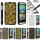 For HTC Desire 510 Case Hard Snap On 2 Piece Slim Shell Digital Camouflage