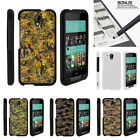 For HTC Desire 520 Case Hard Snap On 2 Piece Slim Shell Digital Camouflage