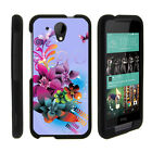 For HTC Desire 520 Case Hard Snap On 2 Piece Slim Shell Black