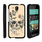 For HTC Desire 520 Case Hard Snap On 2 Piece Slim Shell Floral Dream