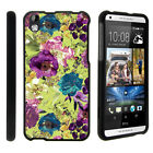 For HTC Desire 816 Case Hard Snap On 2 Piece Slim Shell Butterfly Flowers