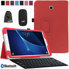 EEEKit Bluetooth Keyboard Mouse PU Leather Case Cover for Galaxy Tab A 10.1