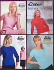 Lister/Lee Target Womens Knitting Patterns Sweaters - Choose from Drop-down Menu