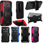 For Alcatel Ideal 4060A Combo Holster HYBRID KICKSTAND Rubber Case Phone Cover