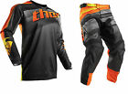 NEW 2017 THOR MX PULSE VELOW DIRTBIKE GEAR COMBO BLACK/ORANGE ALL SIZES