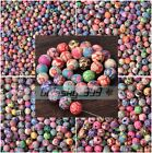 50~500pcs 6~15mm Mixed Flowers Polymer Fimo Clay Round DIY Findings Loose Beads
