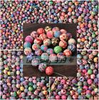 50~500pcs 6~15mm Mixed Flowers Polymer Clay Round DIY Findings Loose Beads