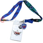 The Legent of Zleda Lanyard key Chain Skyward with Shield Crest ID Pocket Charm