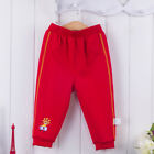 Bebini Baby Kid 1-4T Infant Boy Pant 100% Cotton Casual Printed Dark Red