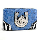 Kyпить Women Lace Leather Wallet Trifold Checkbook Card Holder Coin Purse  на еВаy.соm