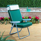 Alfresia Grey Outdoor Garden Recliner Chair with Luxury Cushion-Choice of Colour