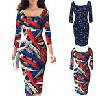 Womens Fashion Elegant Slim 3/4 Sleeve Wear To Work Cocktail Party Pencil Dress