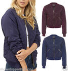 NEW Womens MA1 Classic Padded Bomber Jacket Ladies Quilted Size 8 10 12 14 16