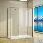 1400x900mm Walk In Shower Enclosure Glass Screen Cubicle Side Panel+Stone Tray