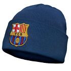 FC Barcelona Official Soccer Gift Kids Knitted Bronx Beanie Hat Crest