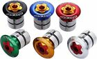 "Acor Coloured Ahead Top Cap Plug Bike  Stem Star Nut 1"" 1/8 For Carbon Steerer"