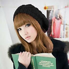 Fall Winter Women Men Unisex Beanie Hat Oversize Slouchy Baggy Knit Ski Hat Cap
