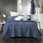 Clyde Blue Coverlet / Bedspread Set OR Accessories by Bianca